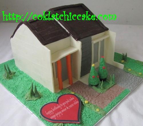 Kue Ulang Tahun Rumah Minimalis Pak Indra Coklatchic Cake