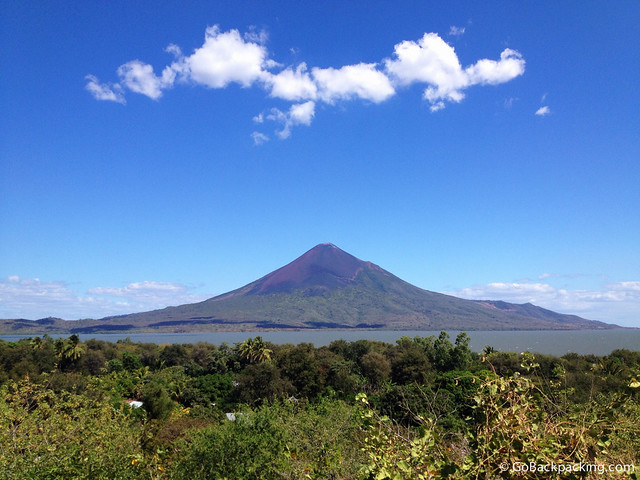 Momotombo Volcano as viewed from Leon Viejo