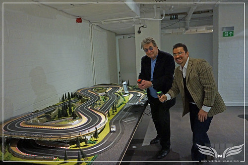 The Establishing Shot BOND IN MOTION - VIC ARMSTRONG & @THEESTSHOT RACE ASTON MARTIN DB5s @ LONDON FILM MUSEUM COVENT GARDEN by Craig Grobler