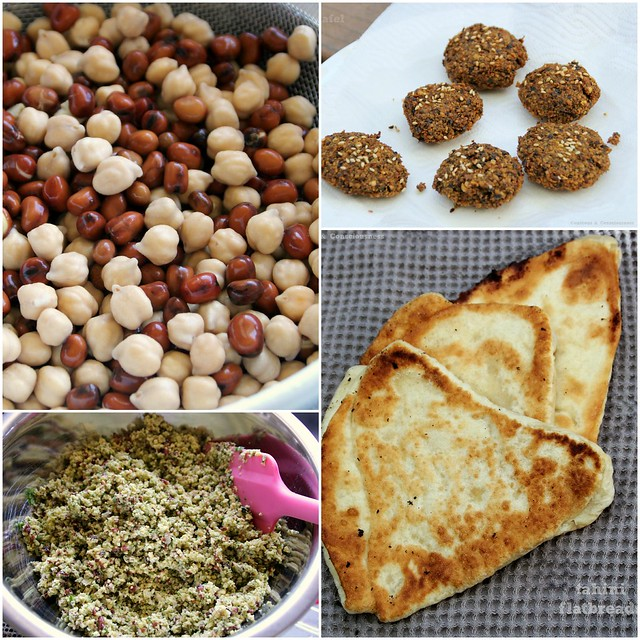 Falafel with Tahini Flatbreads Collage