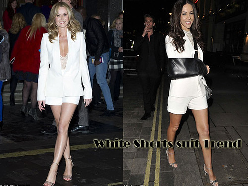 White Shorts suit Trend