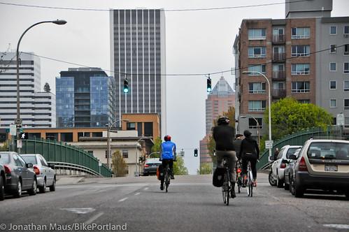 Bike Advisory Committee rides downtown-8