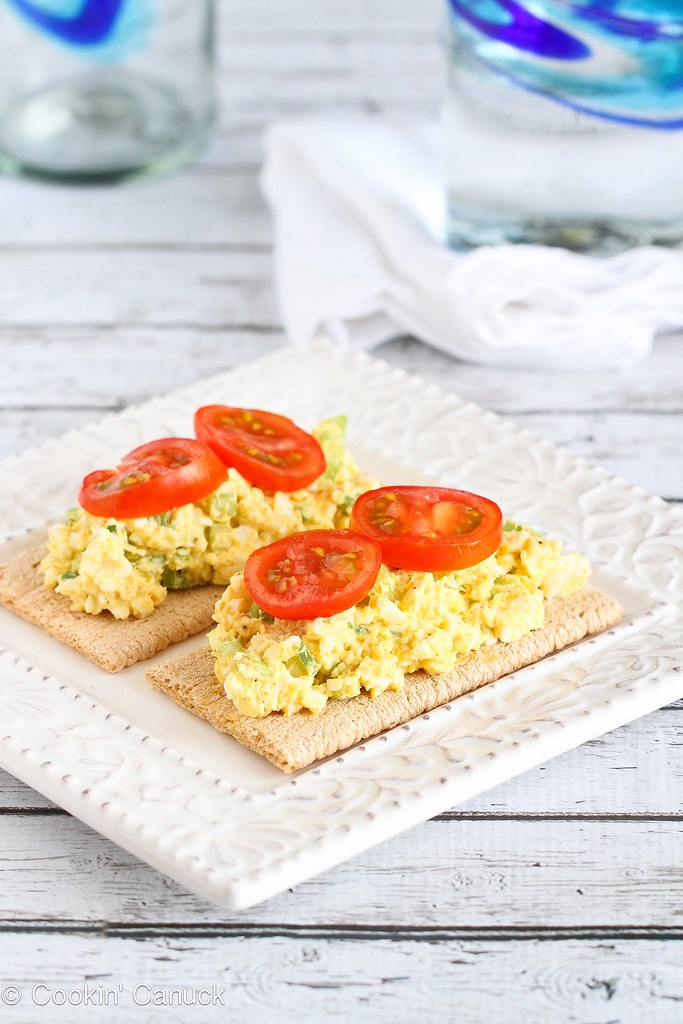 Light Curry Egg Salad Recipe with Greek Yogurt | cookincanuck.com #vegetarian #recipe