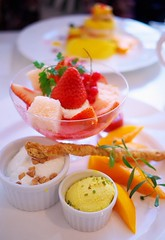 Strawberry and Mango Dessert Plate