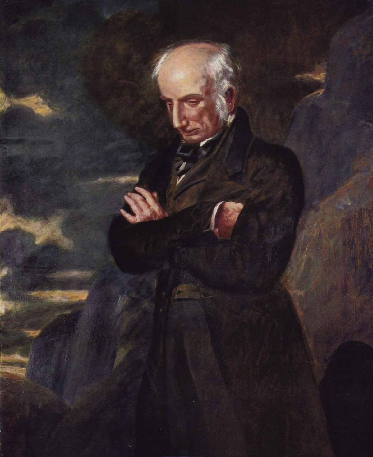 Portrait of William Wordsworth by Benjamin Robert, 1841