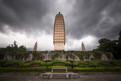 Three Pagodas of Chongsheng Temple in Dali, China