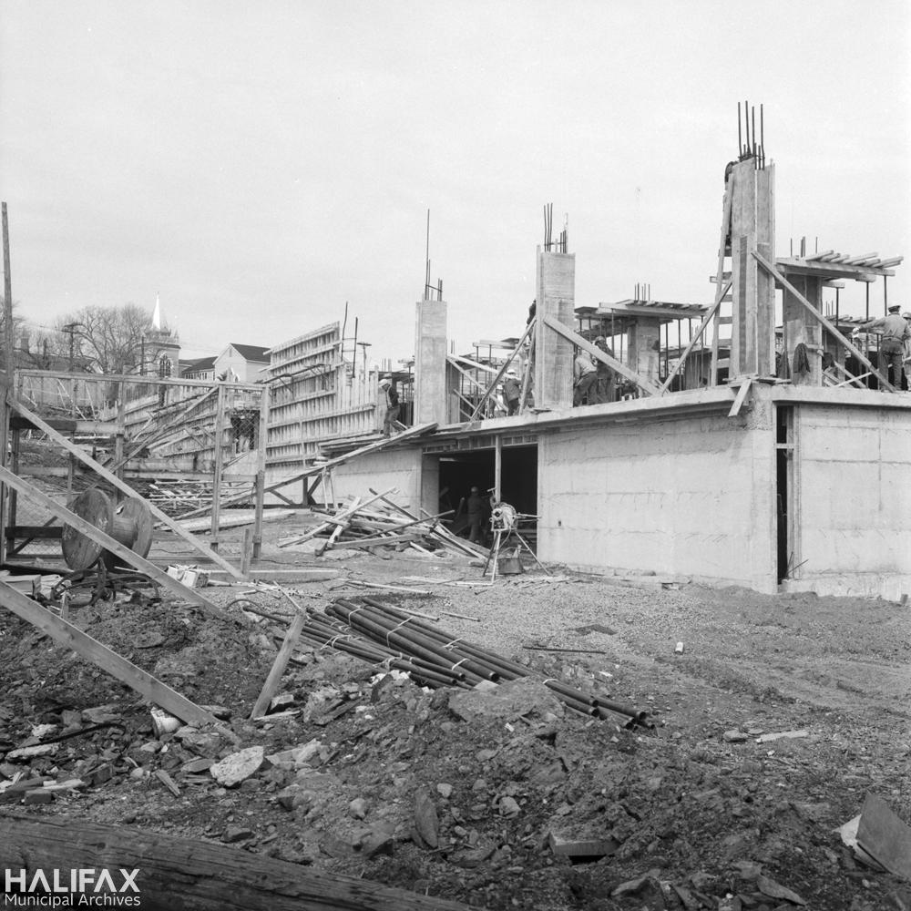 Trade Mart Building construction, 2021 Brunswick St.