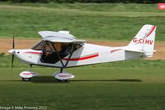 G-CIHV - 2014 build Best Off Skyranger Nynja, arriving on Runway 26R at Barton