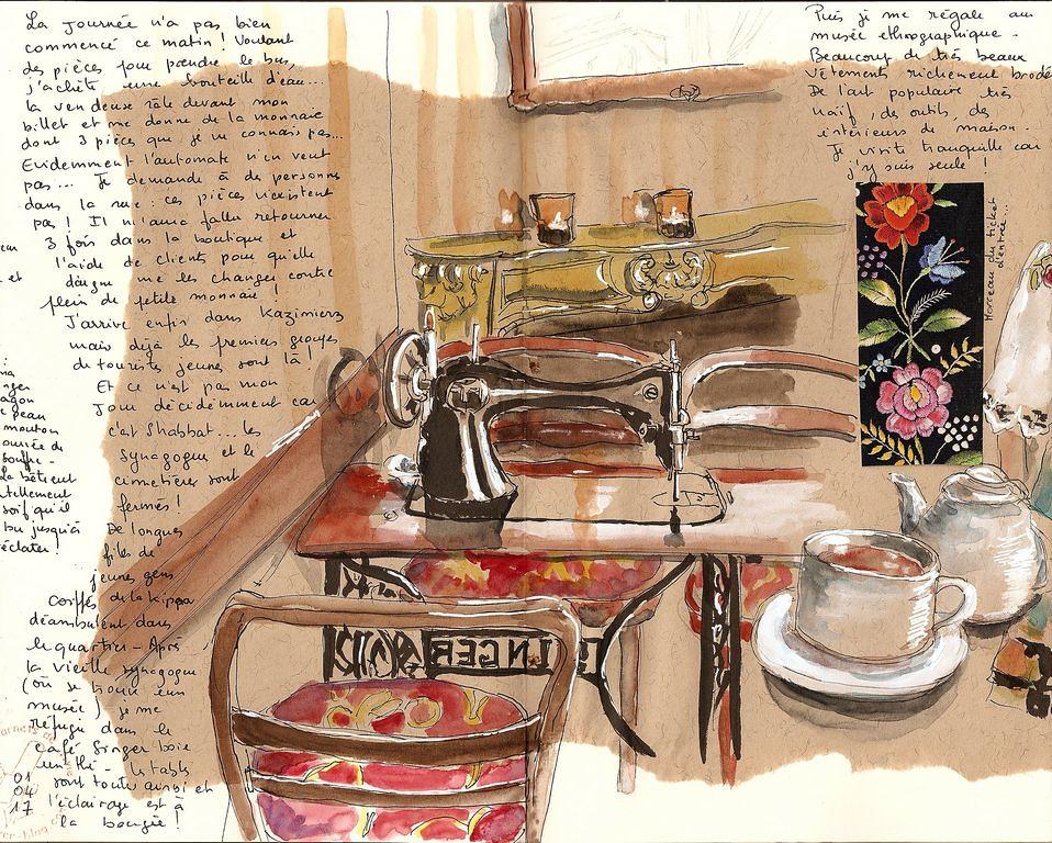 Dans le café Singer de Cracovie - Dessin de bigoudene46@Flickr.