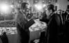 Richard Nixon shares a toast with Chou En Lai