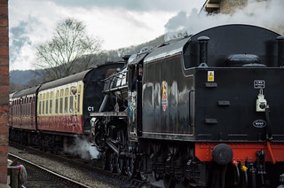 20170330-36_Black Five Engine 5MT 45407 + Train at Levisham Station