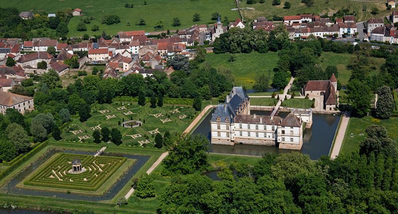 Vista aérea Castillo de Cormatin