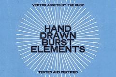 28 hand-drawn burst elements