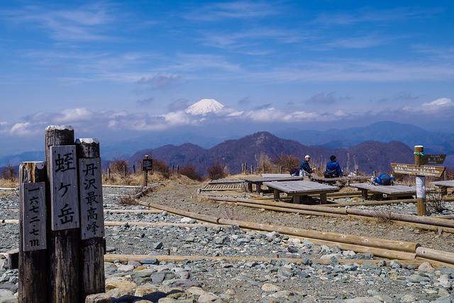丹沢最高峰・・・蛭ヶ岳の山頂