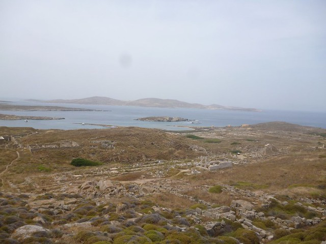 View from hill of Delos