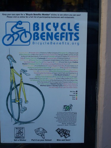 "Salt Lake City has a ""Bicycle Benefits"" program to incentivize biking"