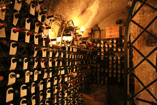 A gorgeous wine cellar at Rossellinis Ristorante in Ravello