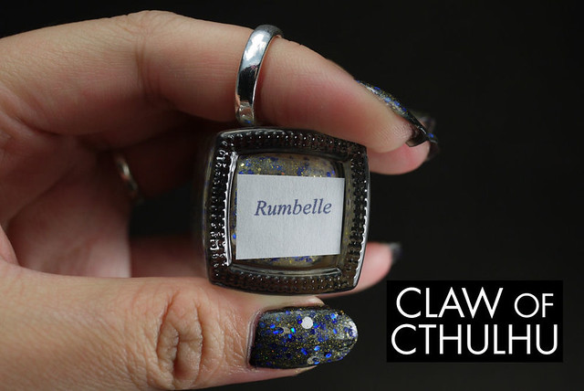 Fandom Cosmetics Rumbelle (over OPI Black Onyx)