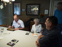 MCPOCG Leavitt visits CDR Evans family - 2
