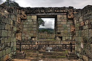 Copan HN - The interior doorway of Structure 10L-2 02