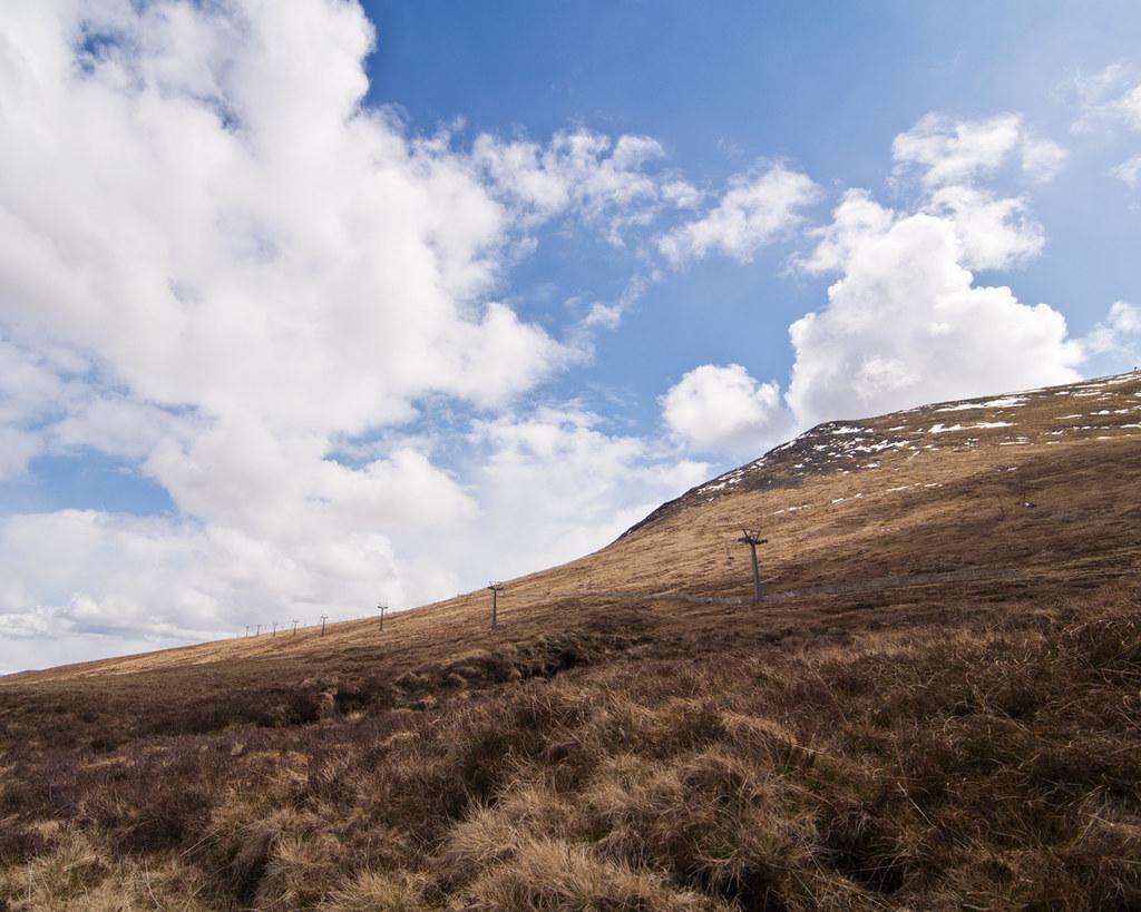 Aonah Mor in Scotland - climbing to the top