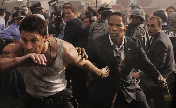 Channing Tatum and Jamie Foxx are the latest props in a Roland Emmerich movie.