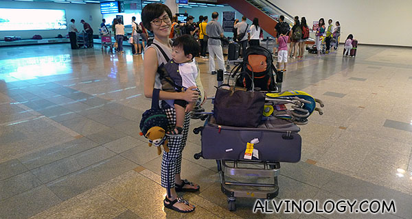 We were the first to receive our luggage, wheeled to us by AirAsia staff because of Red Carpet Service