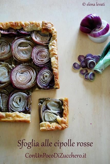 Sfoglia con cipolle e crema di verdure