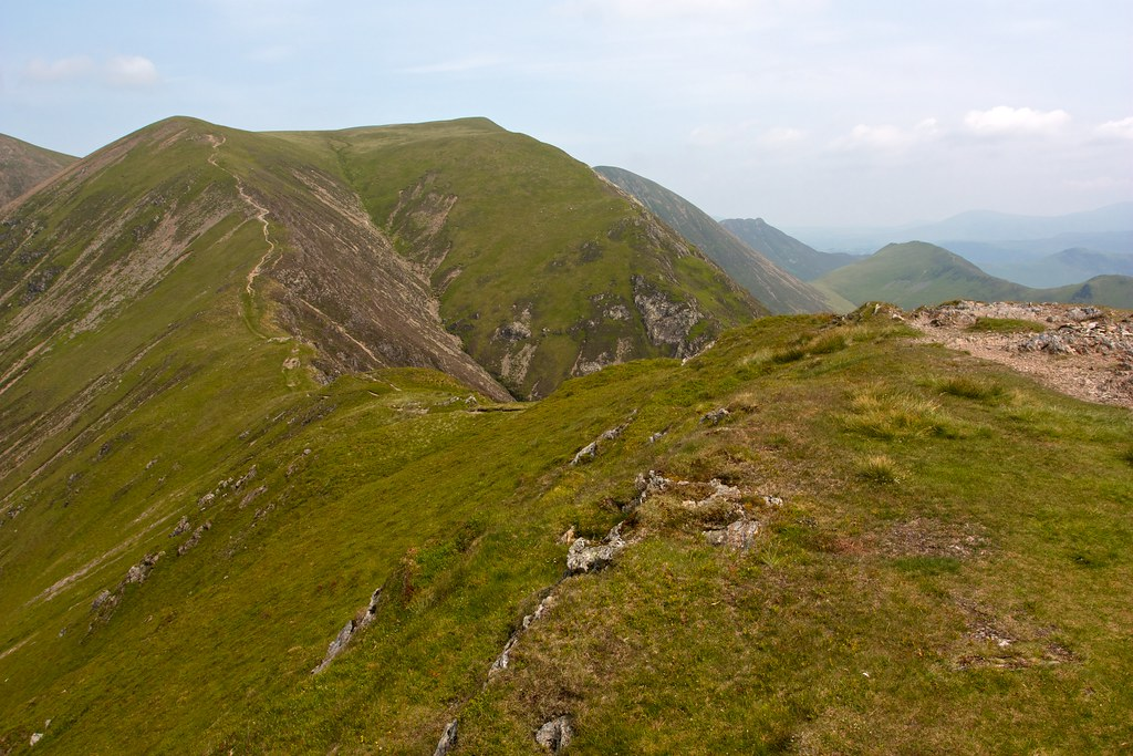 Wandope, Crag Hill and Sail from Whiteless Edge