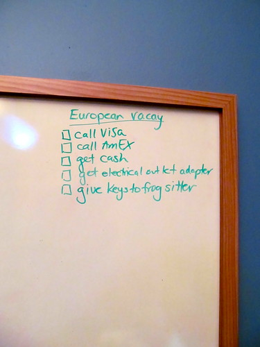 Vacation Prep - To Do List