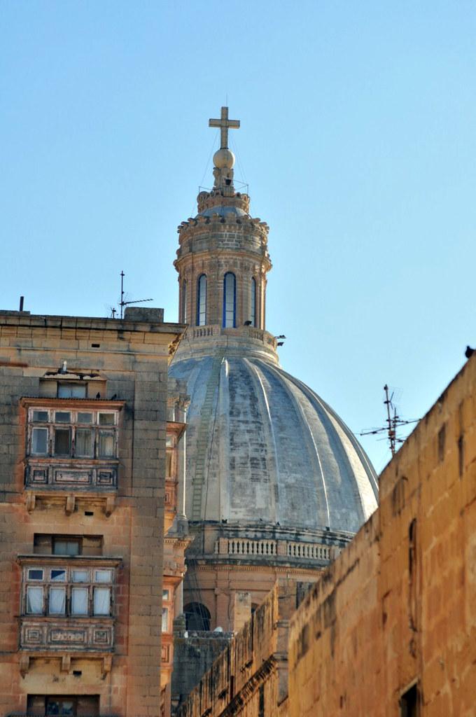 Qué ver en La Valeta: Cúpula Chiesa Carmelitana de La Valeta