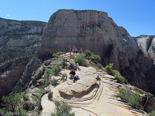 At the top of Angel's Landing, Zion National Park, Utah