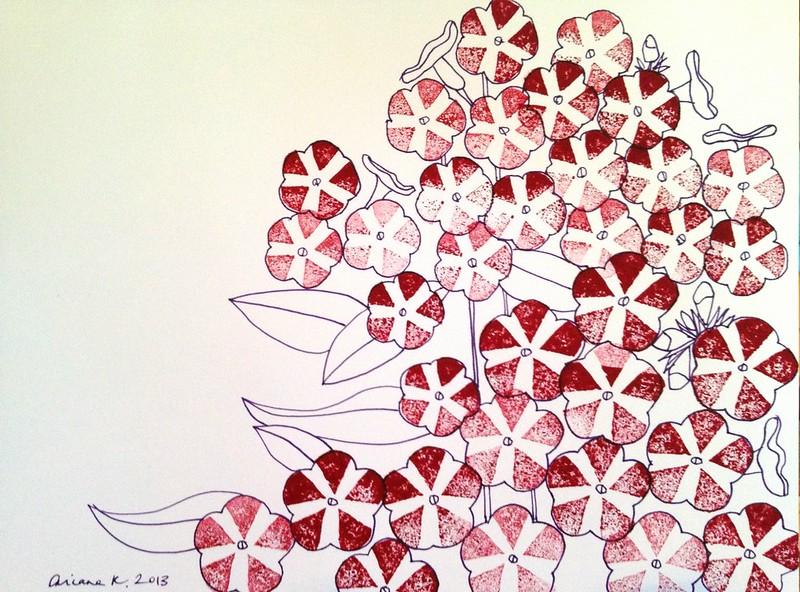 Alison's pinwheel flowers stampified