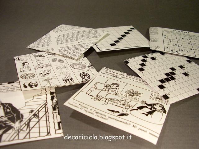 segna-libro di carta enigmistici