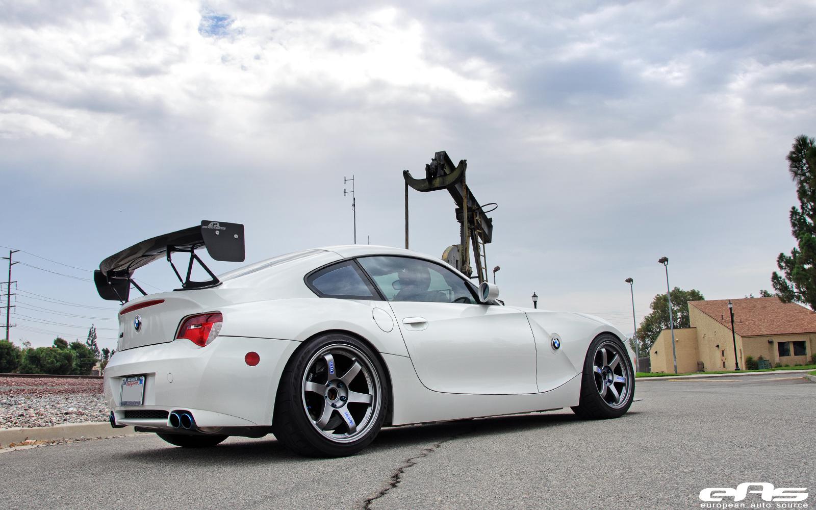 Volk Te37s Installed On Alpine White Z4m Bmw Performance