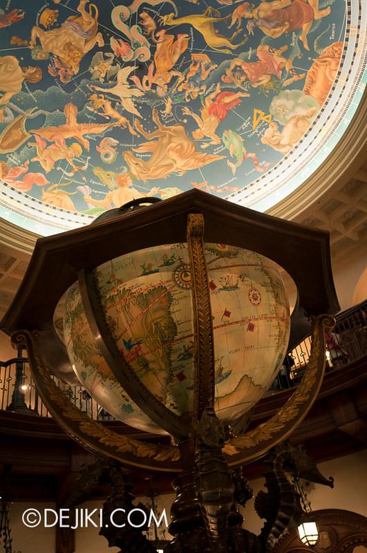 Tokyo DisneySea - Mediterranean Harbor / Magellan's / Hall detail