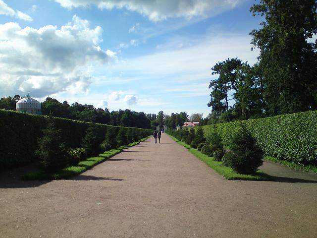 Главная аллея в Нижнем парке // Main path in Lower park