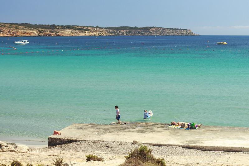 Ghadira Beach in Mellieha, Malta