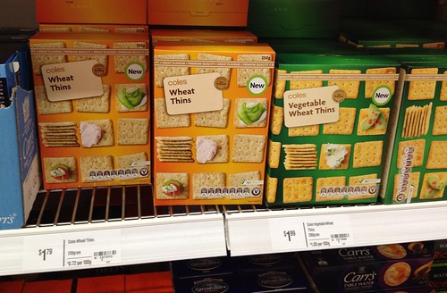 Wheat Thins in Australia! (Coles brand)