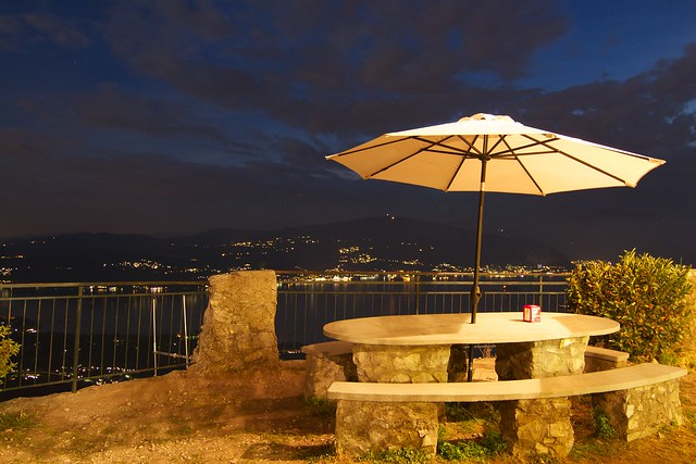 There's a lovely view of Lake Maggiore from here