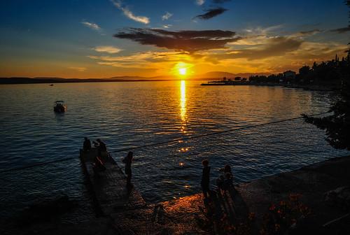 sunset croatia tourists hrvatska crikvenica kvarner selce