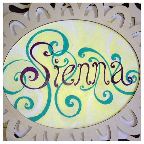Sienna in Wonderland wall art