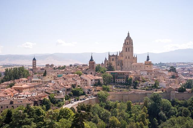セゴビア アルカサルから見たセゴビア大聖堂