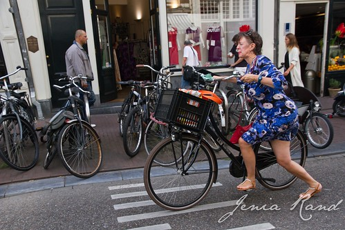 bicyclist in Amsterdam