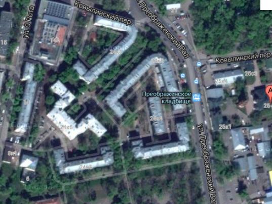 Преображенский вал. Снимок с GoogleMaps