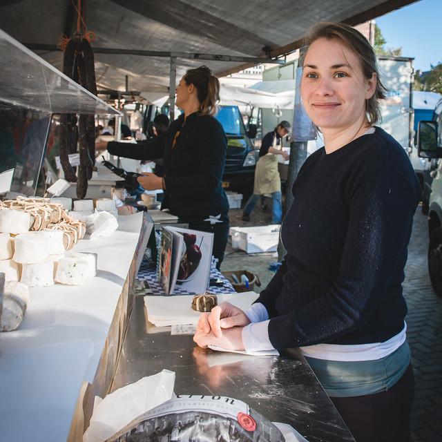 Clara, cheesemaker at Noordmarkt