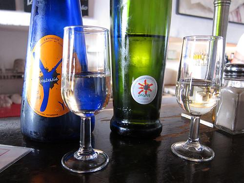 white wine options at Bodega El Chupadero