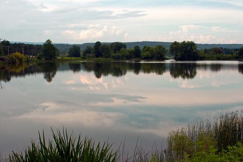 park lake storm reflection clouds mirror state pennsylvania pa penn shawnee