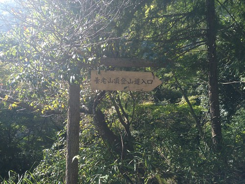養老山頂登山道入口