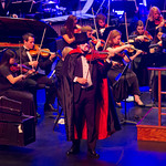 "13-046 -- Concertmaster Mark Timmerman '14 comes back as Death to play a featured part in ""Danse Macabre"" during the Illinois Wesleyan Civic Orchestra Halloween Pops Concert."